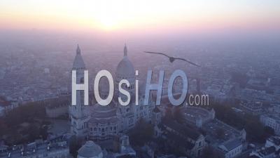 Montmartre Au Lever Du Soleil, Vidéo Drone