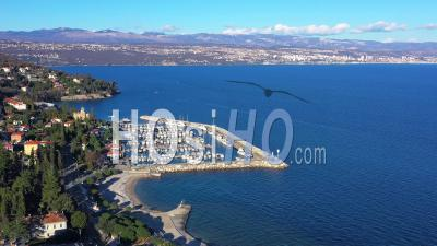 Flight Over Marina Icici - Video Drone Footage