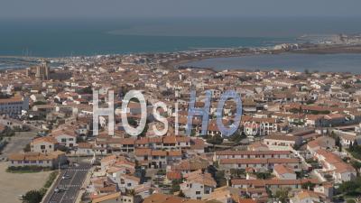 Village Saintes-Maries-De-La-Mer, Viewed From Drone