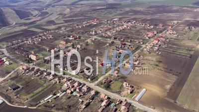 Village De Triteni, Roumanie Vidéo Drone