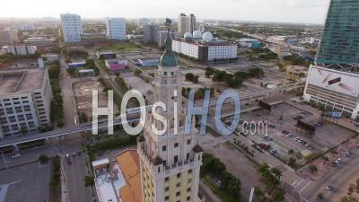 Miami Downtown Freedom Tower - Video Drone Footage