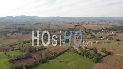 Beaujolais Landscape At Springtime - Video Drone Footage