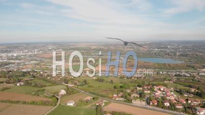 Limit Between Ain And Rhone - Video Drone Footage