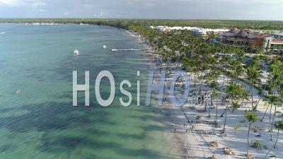 Plage De Punta Cana, République Dominicaine - Vidéo Drone