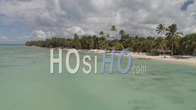 Saona Beach, Dominican Republic - Video Drone Footage