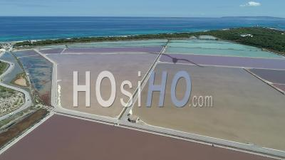 Salt Marsh In Ibiza - Drone Point Of View