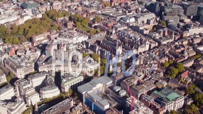 Aldwych à Leicester Square, Londres Filmé En Hélicoptère