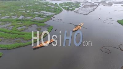 Pirogues De Transport à Calavi - Vidéo Drone