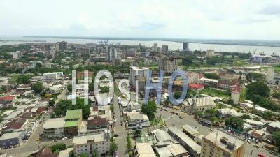 Douala Akwa Port Seaside - Video Drone Footage