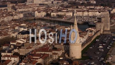La Rochelle From Seaside - Video Drone Footage