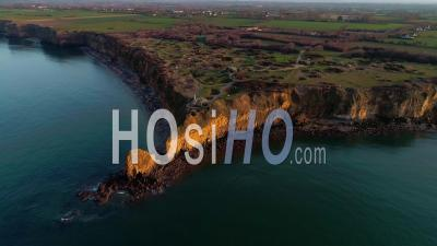 Pointe Du Hoc In The Calvados - Video Drone Footage