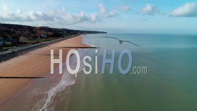 Omaha Beach In Normandy - Drone Point Of View