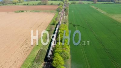 Chemin De Fer à Vapeur De La Vallée De Nene, Peterborough, Vidéo Drone