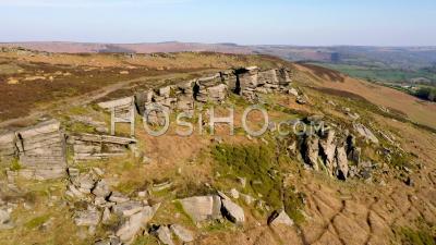 High Neb Peak, Escalier De Stanage Edge, Parc National Du Derbyshire, Vidéo Drone