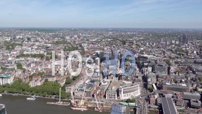Blackfriars, Charing Cross, Aldwych Et Midtown, Londres, Filmés Par Hélicoptère