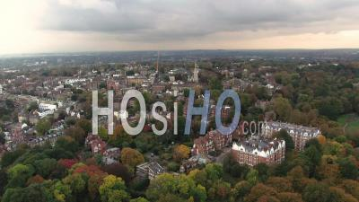 Residential Victorian Village In North London - Video Drone Footage