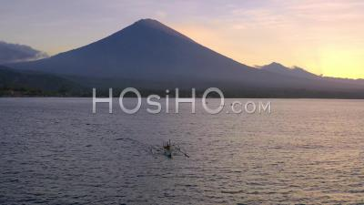Mount Agung At Dusk - Video Drone Footage