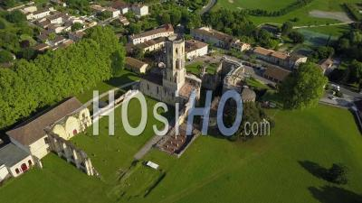 Aerial View Abbey Sauve-Majeure, Route To Santiago Compostela, Unesco