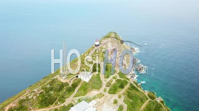 Aerial View Of The Cape Of Hope And Cape Point Where Indian And Atlantic Oceans Meet At The Southern Tip Of South Africa - Vidéo Drone