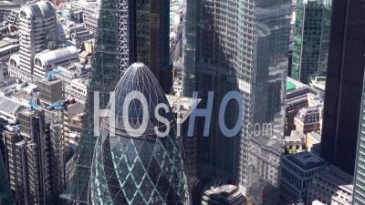 City Of London Towers, London Filmed By Helicopter