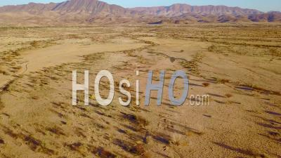 Aerial View Over Rugged Desert Landscape Of Namibia, Africa - Video Drone Footage
