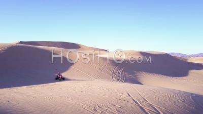 Dune Buggies And Atvs Race Across The Imperial Sand Dunes In California - Video Drone Footage