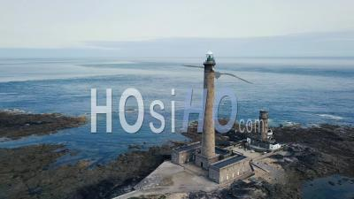 Gatteville Lighthouse, In Britain, France, Video Drone Footage