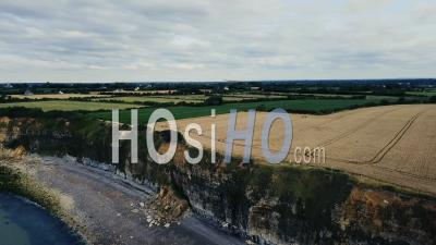 Pointe Du Hoc, Normandy, France, Drone Point Of View