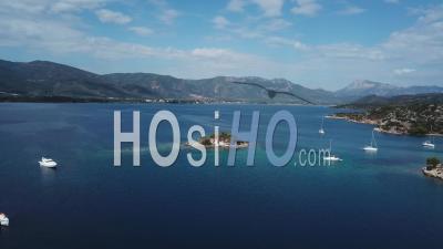 Poros Chapel Island Filmed By Drone