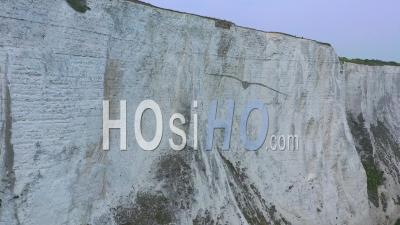 Aerial View Of The South Foreland Lighthouse And The Cliffs Of Dover Overlooking The English Channel - Video Drone Footage