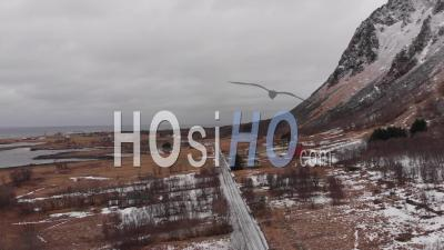 Village Isolé Sur L'île D'andoya - Îles Lofoten, Norvège - Vidéo Drone