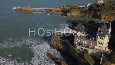 Biarritz, France, The Villa Beltza, A Neo-Medieval Style House On The Cliffs Of The Rocky Coastline