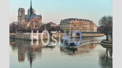 France, Paris, Unesco World Heritage Site, Time Lapse Cathedral Notre-Dame De Paris