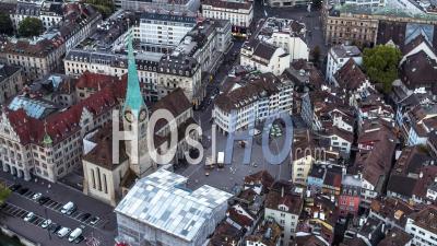 Vue Aérienne De Zurich, Vieille Ville, Suisse - Vidéo Drone