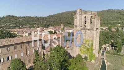 Aerial View Of The Lagrasse, Filmed By Drone In Summer