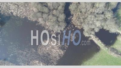 The Swamp Of Gannedel In Ille Et Vilaine, Brittany, France - Video Drone Footage