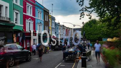 World Famous Portobello Antique Market In London