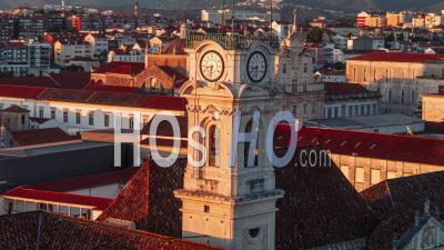 Vue Aérienne De Coimbra, Tour De L'université De Coimbra, Portugal - Vidéo Drone