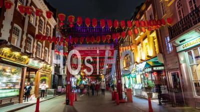 Chinatown à Londres Avec Des Décorations De Rue La Nuit