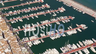 Aerial View Of Puerto Banus Marina On Western Edge Of Marbella