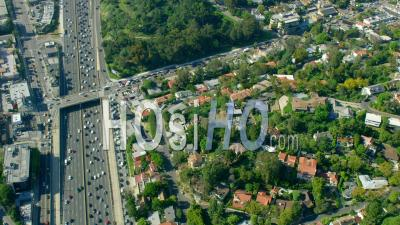Aerial View Of Residences In Hollywood Hills (east Hollywood)
