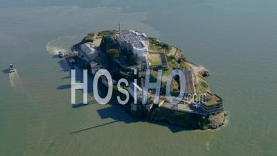 Aerial View Alcatraz, Famous Former Prison In San Francisco Bay