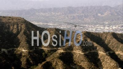 Aerial View World-Famous Hollywood Sign And Hollywood Hills