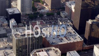 Aerial View Downtown City Skyscrapers