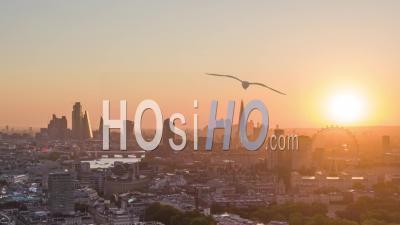 Drone Lapse, Hyper Lapse De Londres Au Lever Du Soleil
