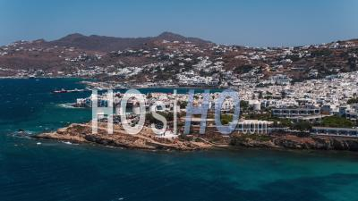 Mykonos, Cyclades Islands, Greece - Video Drone Footage
