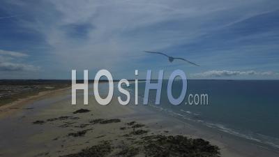 Dunes Et Plage De Kerhilio Vues Par Drone