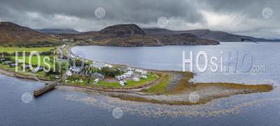 Drone Shoot Over Adrmair Camspite In North West Coast Of Scotland - Aerial Photography