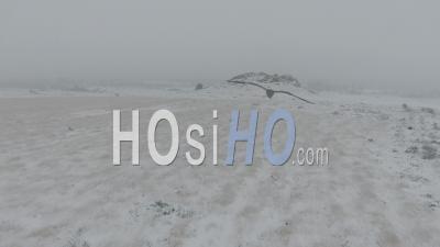 Neige En Bretagne Dans Les Monts D'arree - Vidéo Drone