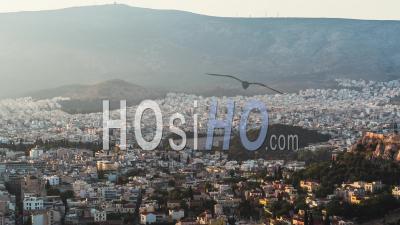 Aerial View Of Athens, Parthenon, Acropolis, Greece - Video Drone Footage
